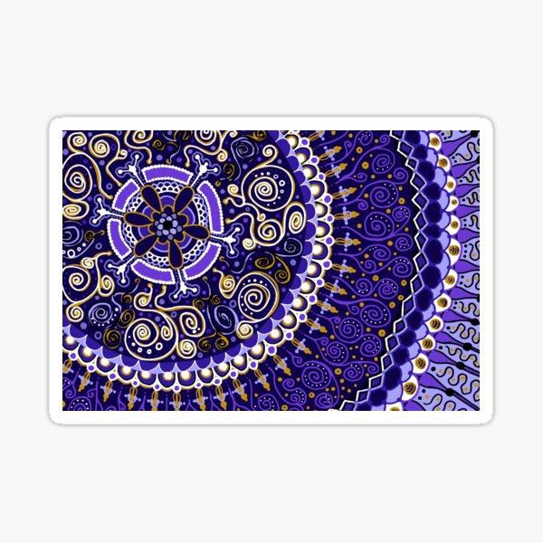 Purple and Gold Mandala  Sticker