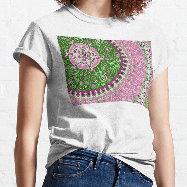 Pink and Green Mandala  Classic T-Shirt