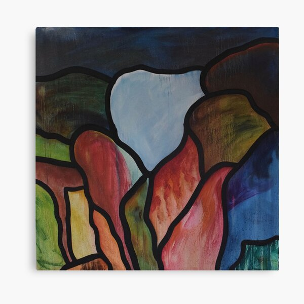 Stained - Stained Glass Oil Painting Canvas Print