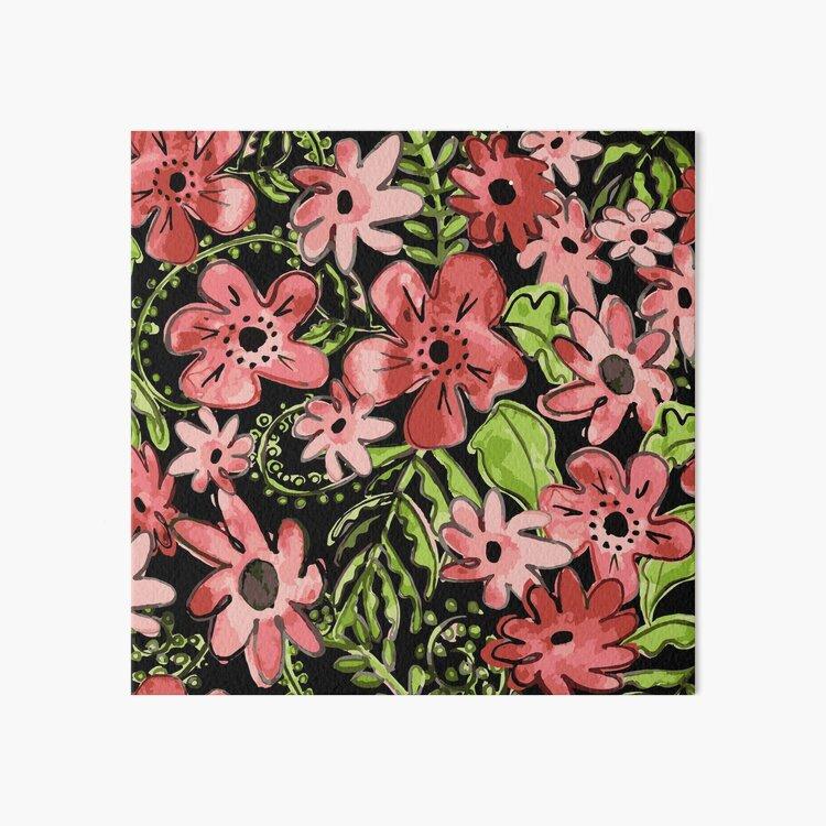 Floral Toss Art Board Print