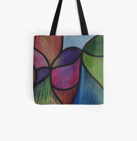 Accidentally Tragic - Stained Glass Oil Painting All Over Print Tote Bag