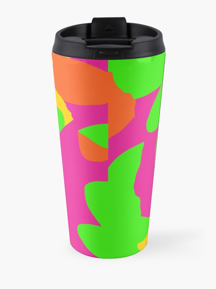 Alternate view of Sprouse inspired day glow print Travel Mug