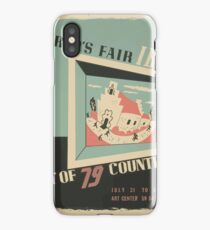 WPA United States Government Work Project Administration Poster 0744 World's Fair IBM Show iPhone Case