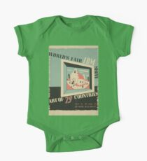 WPA United States Government Work Project Administration Poster 0744 World's Fair IBM Show One Piece - Short Sleeve