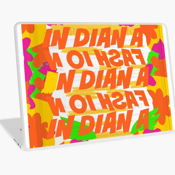 Stephen Sprouse inspired-Letter Print-Words-Day Glow Laptop Skin
