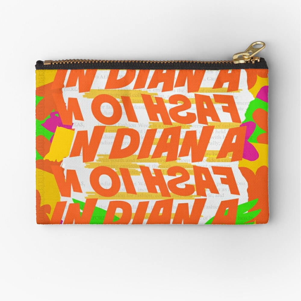 Stephen Sprouse inspired-Letter Print-Words-Day Glow Zipper Pouch