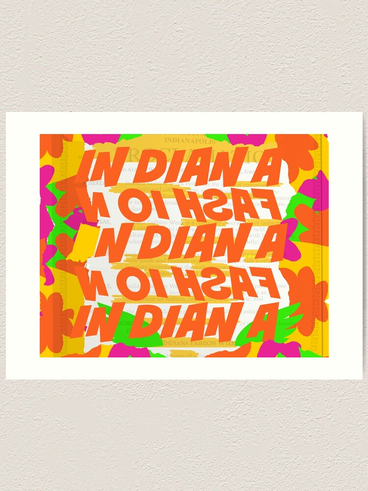 Alternate view of Stephen Sprouse inspired-Letter Print-Words-Day Glow Art Print