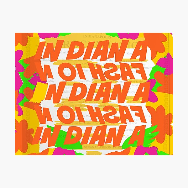 Stephen Sprouse inspired-Letter Print-Words-Day Glow Photographic Print