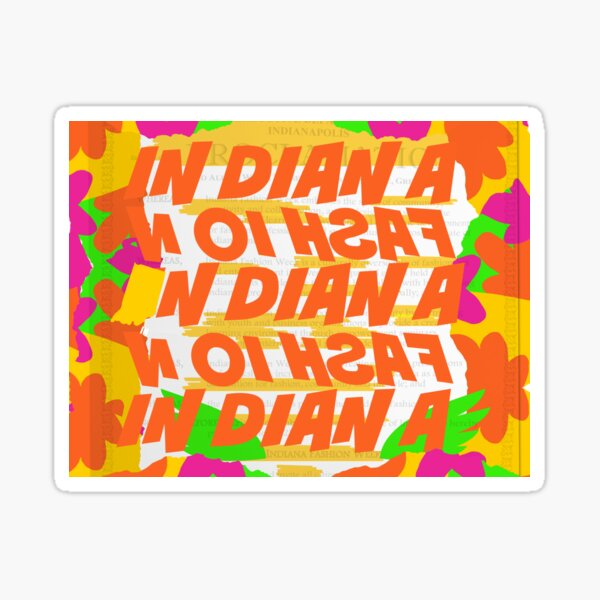 Stephen Sprouse inspired-Letter Print-Words-Day Glow Sticker