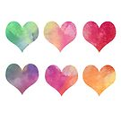 Colourful Hearts by ArtByMichelleT