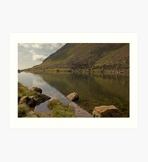 Goats Water..A Low Level View Art Print