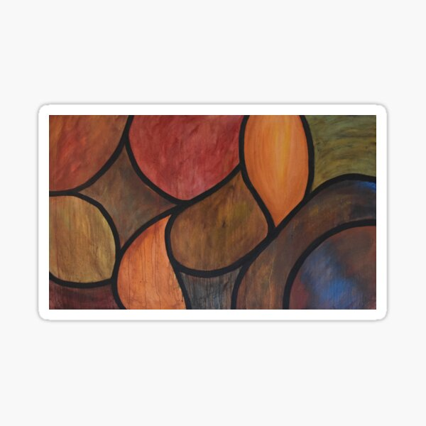 Metal and Dust - Stained Glass Oil Painting Sticker