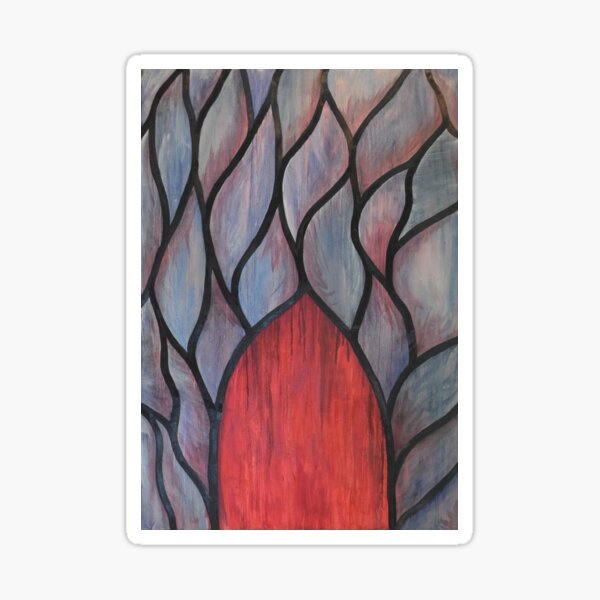 Notre Dame d'Amiens - Stained Glass Oil Painting Sticker