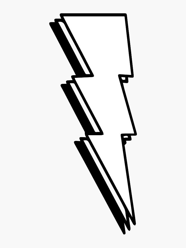 Lightning Bolt- Black and White by ksnook