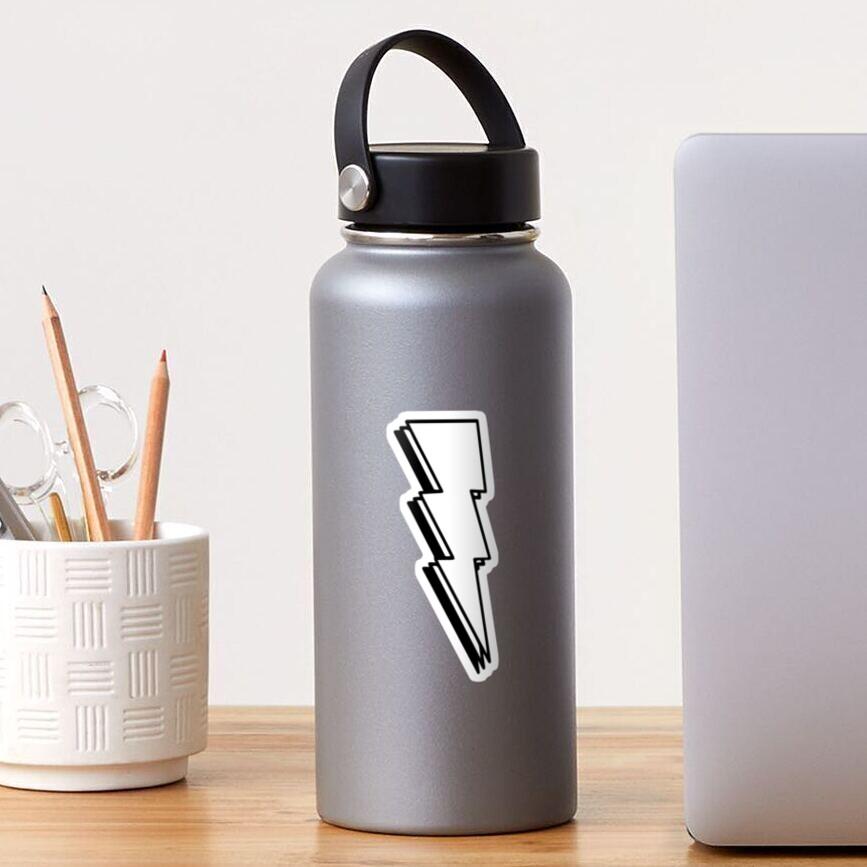 Lightning Bolt- Black and White Sticker
