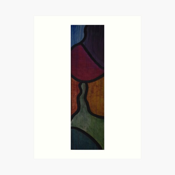 Piece of Forever - Stained Glass Oil Painting Art Print