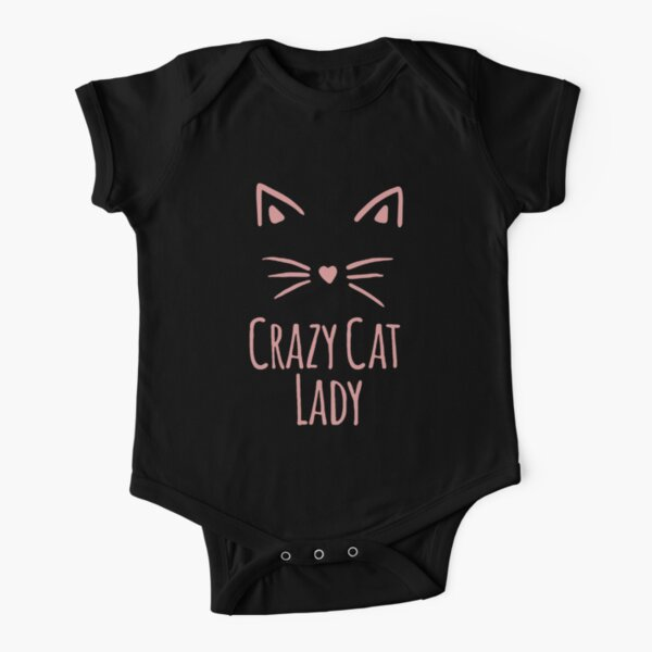 Crazy Cat Lady Short Sleeve Baby One-Piece