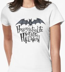 Horror is For Life, Not Just For Halloween T-SHIRT (Dark Version) Women's Fitted T-Shirt