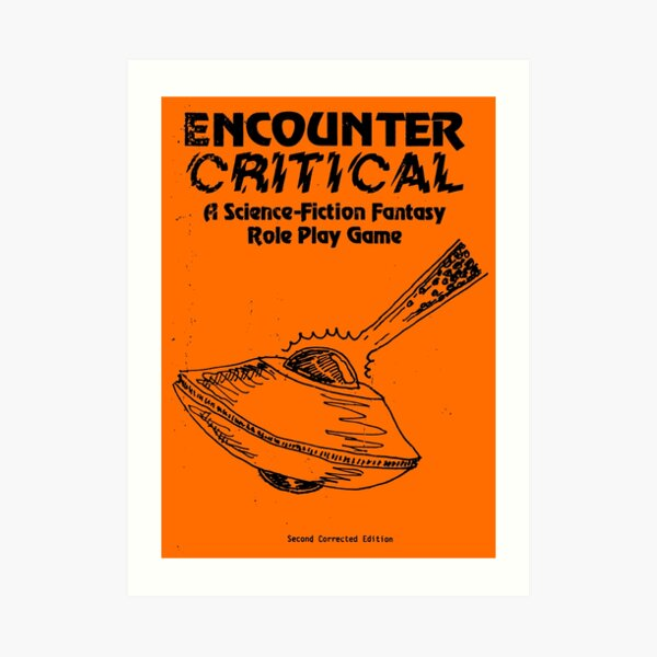 Encounter Critical - Cover Grunge Art Print