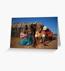 Samburu life Greeting Card