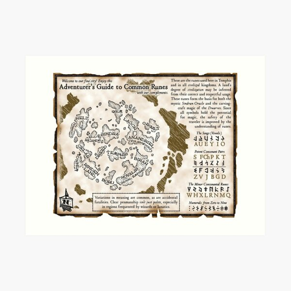 Adventurer's Guide to Common Runes Art Print