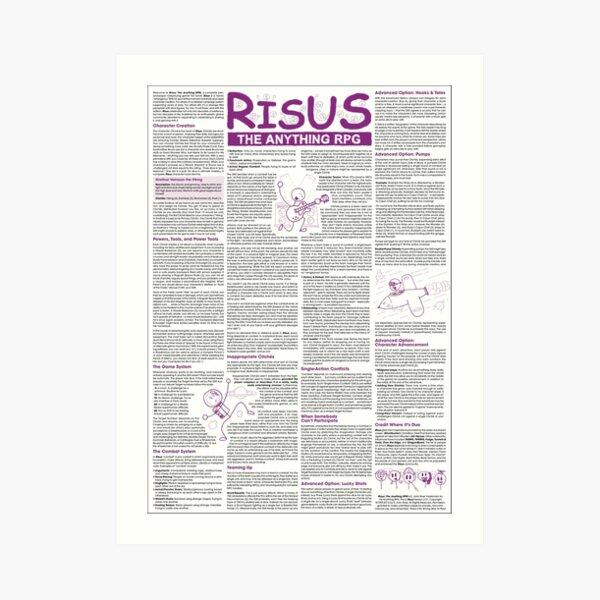 Risus: The Anything RPG (On Stuff) Art Print
