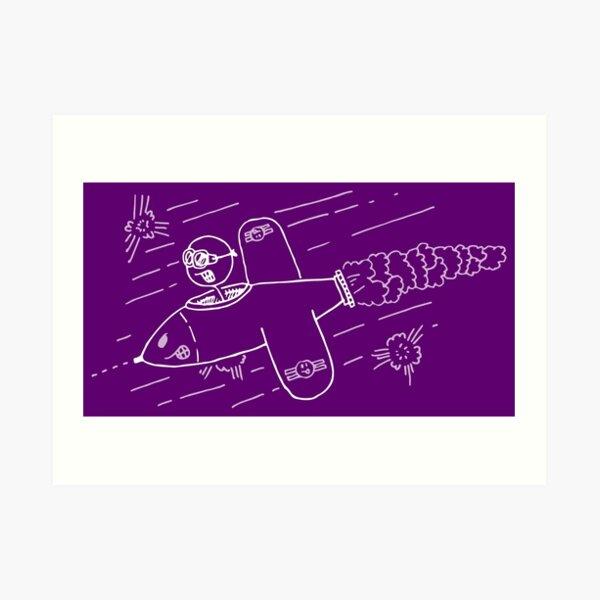 Risus Fighter Pilot Art Print