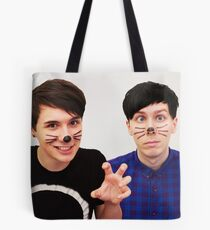 Dan and Phil (Whiskers) Tote Bag
