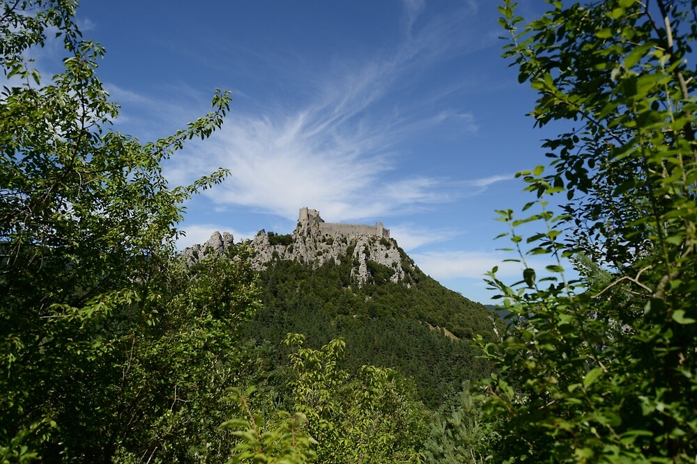 Castle of Puilaurens (Aude, Cathar Country) by Philippe Contal