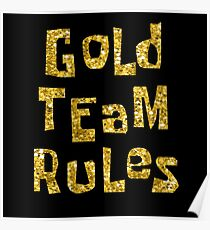 Gold Team Rules Poster