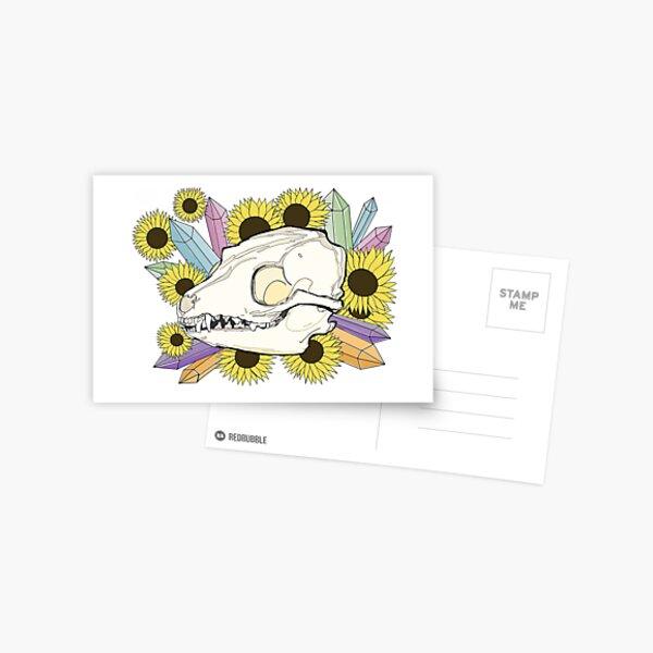 Fox Skull Postcard