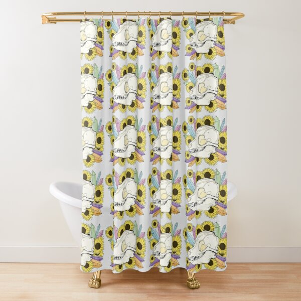Fox Skull Shower Curtain