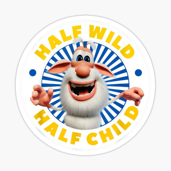 t-shirt booba moitié sauvage moitié enfant Sticker