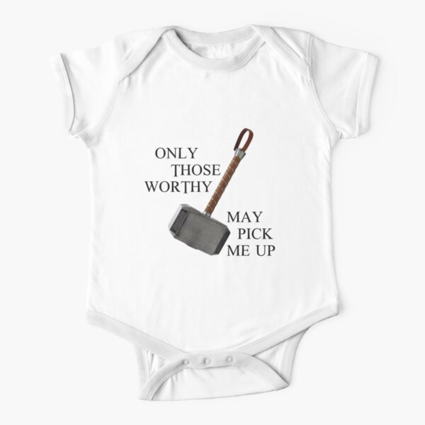 Thor Worthy Baby clothing - Only those worthy baby clothing Short Sleeve Baby One-Piece