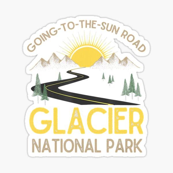 Going To The Sun Road Glacier National Park Retro Montana Sticker