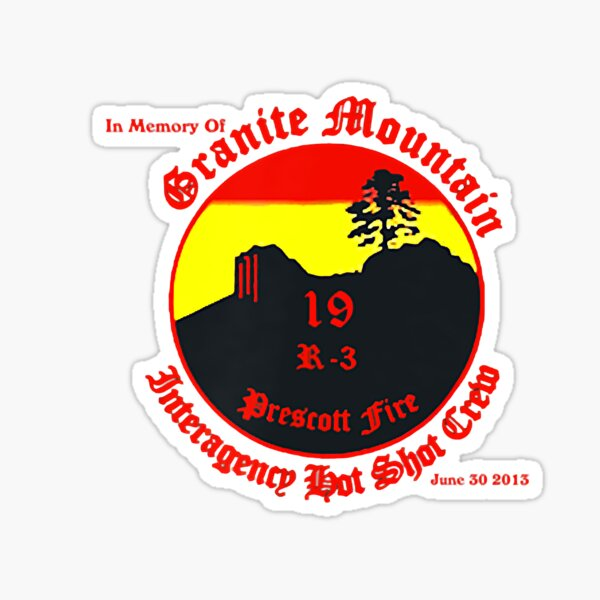 Granite Mountain Hotshots Memorial, Both Side Printed Sticker