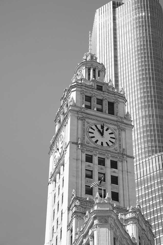 Chicago Clocktower by Frank Romeo