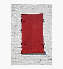 Red Window Photographic Print