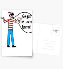 Wally's Here Postcards