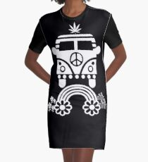 Hippie - Peace - Hanf - Generation T-Shirt Kleid