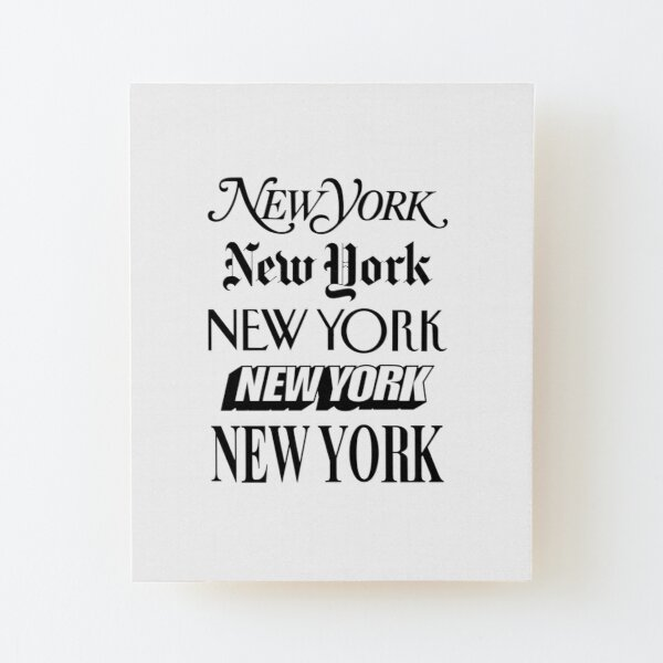 New York New York Wood Mounted Print