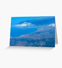 Areal view on Azure coast in Nice, France Greeting Card