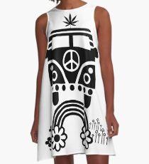 Hippie - Peace - Hanf - Generation - II A-Linien Kleid