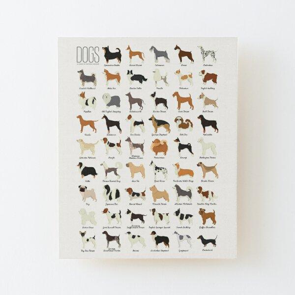 Dog Breeds Wood Mounted Print