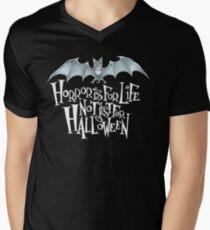 Horror is For Life, Not Just For Halloween T-SHIRT (Light Version) Men's V-Neck T-Shirt