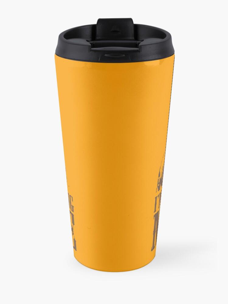 Alternate view of I'm Staying, I'm Finishing My Coffee The Big Lebowski Tshirt Travel Mug