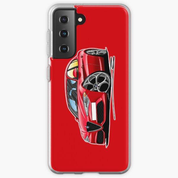 Alfa Romeo Giulia Rouge Caricature Coque souple Samsung Galaxy