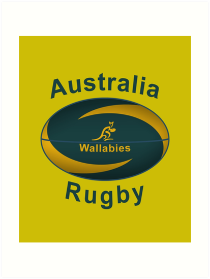 Australia Rugby World Cup Ball Design Art Print By Getitgiftit Redbubble