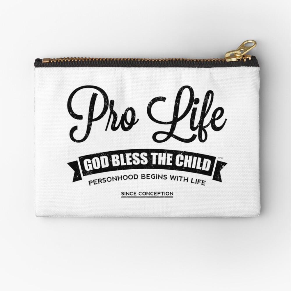 Pro Life Zipper Pouch