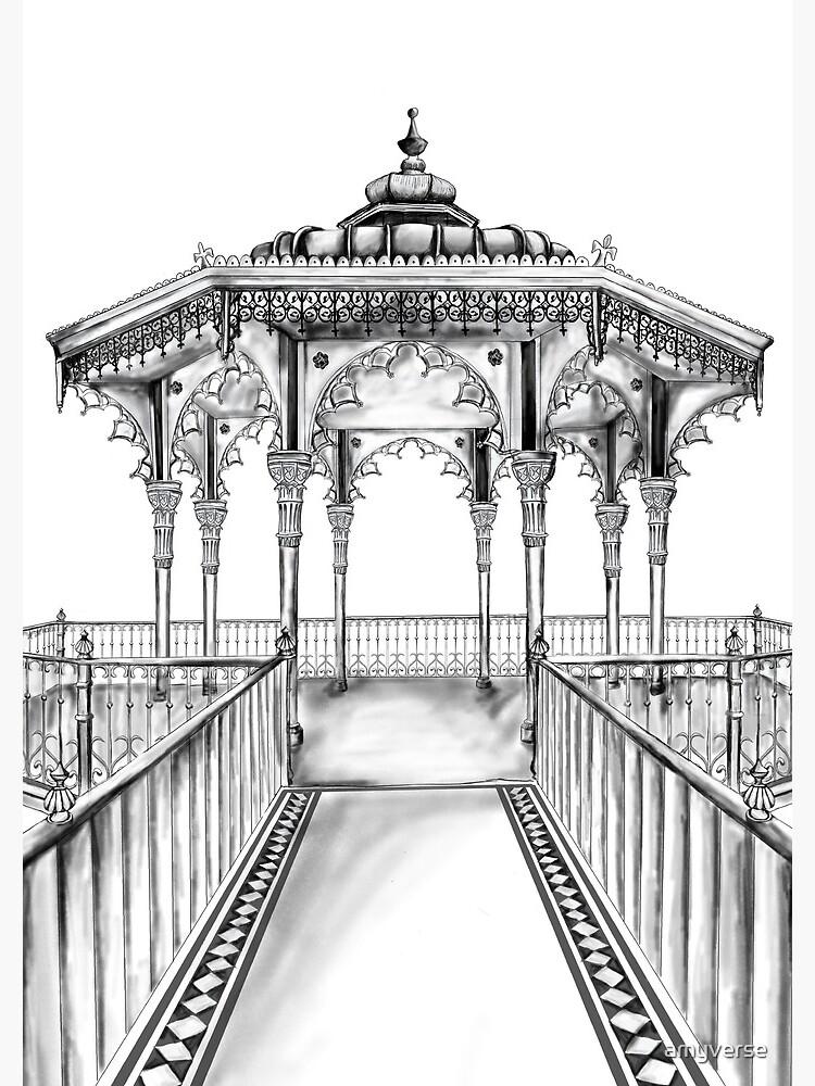 Brighton Bandstand illustration - Brighton beach by amyverse